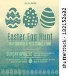 Beautiful Easter egg hunt invitation flyer - stock vector