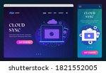 cloud sync ui ux web design...