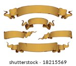 old banners vector . in the... | Shutterstock .eps vector #18215569