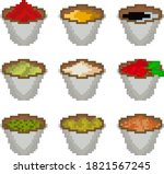 a set of nine food items made... | Shutterstock .eps vector #1821567245