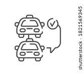 car selection black line icon....