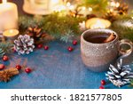 Cup Of Hot Drink On Christmas...