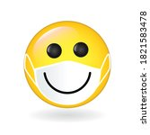 emoji smiley wearing guard... | Shutterstock .eps vector #1821583478