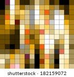 yellow mosaic. texture... | Shutterstock . vector #182159072