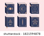 spell books halloween... | Shutterstock .eps vector #1821594878