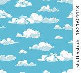 seamless pattern cloud... | Shutterstock .eps vector #1821604418