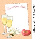 wedding card. vector... | Shutterstock .eps vector #182162282