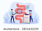 tiny scientists studying... | Shutterstock .eps vector #1821632255