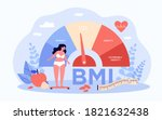 woman and obese chart scales... | Shutterstock .eps vector #1821632438