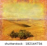 grunge paper with the landscape ... | Shutterstock . vector #182164736