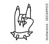 punk rock hand symbol vector...