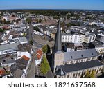 Small photo of Moenchengladbach city in Germany. Aerial view of Alter Markt old town square.