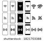 Set Of Smartphone Wifi Icon....