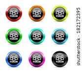 web buttons set on white... | Shutterstock . vector #182172395
