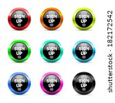 web buttons set on white... | Shutterstock . vector #182172542