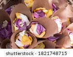 Flower Petals In Brown Bags For ...