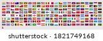 all official national flags of...   Shutterstock .eps vector #1821749168