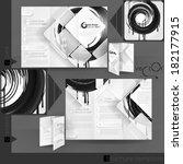 business brochure template... | Shutterstock .eps vector #182177915