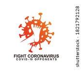 corona virus resistance logo.... | Shutterstock .eps vector #1821792128