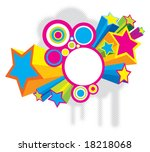 beautiful colored disco stars.... | Shutterstock .eps vector #18218068