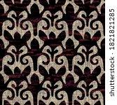 seamless modern sepia camo... | Shutterstock . vector #1821821285