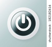 power button of an open circle... | Shutterstock .eps vector #182182616