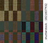Woven Cloth Plaid Background ...