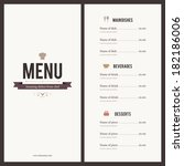 restaurant menu. flat design | Shutterstock .eps vector #182186006