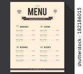 restaurant menu. flat design | Shutterstock .eps vector #182186015