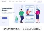 online business courses landing ... | Shutterstock .eps vector #1821908882