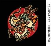 dragon tattoo illustration...   Shutterstock .eps vector #1821925472