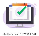 scheduled event appointment... | Shutterstock .eps vector #1821951728