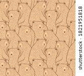 vector illustration of brown... | Shutterstock .eps vector #1821951818