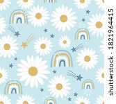 daisies seamless pattern with...   Shutterstock .eps vector #1821964415