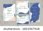 abstract wedding invitation...   Shutterstock .eps vector #1821967418