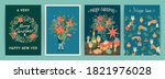 set of christmas and happy new... | Shutterstock .eps vector #1821976028