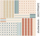 modern scarf pattern with... | Shutterstock .eps vector #1821990692