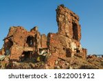 Ruins of a house destroyed during the Battle of Stalingrad