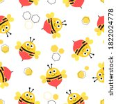 seamless pattern with cartoon... | Shutterstock .eps vector #1822024778