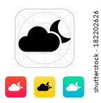 cloudy night weather icon.