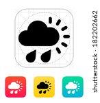 downpour weather icon.