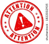 attention caution stamp... | Shutterstock .eps vector #1822032935