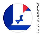 round icon with france and... | Shutterstock .eps vector #1822037342