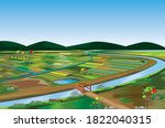Large Paddy Field At...