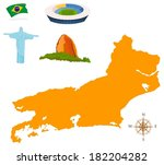 city map of rio and dominants | Shutterstock .eps vector #182204282