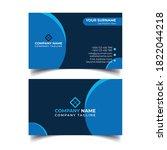 corporate business card design... | Shutterstock . vector #1822044218
