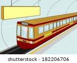 illustration of a cartoon... | Shutterstock .eps vector #182206706