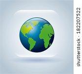global design over gray... | Shutterstock .eps vector #182207522