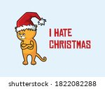 Cat With Christmas Hat...