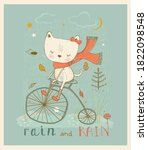 Cute Little Kitty Riding On...